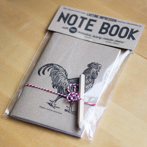 Biggus Cockus Maximus Letterpress Notebook 2