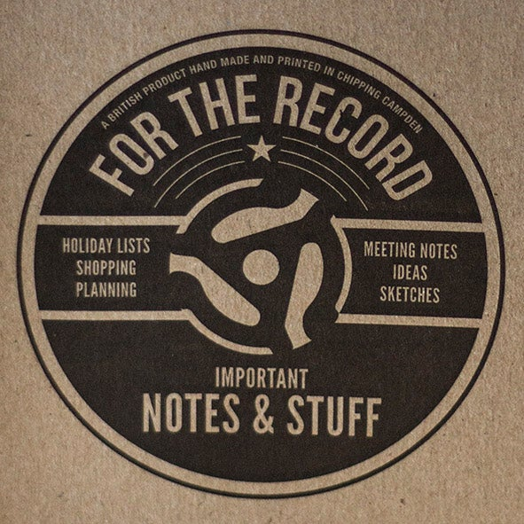 For The Record Letterpress Notebook 1