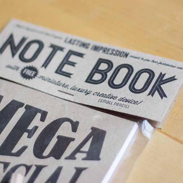 Mega Special Top Secret Ideas Letterpress Notebook 1