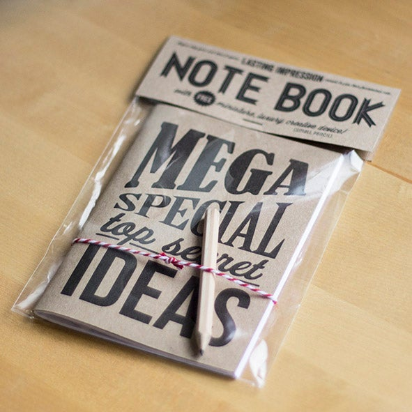 Mega Special Top Secret Ideas Letterpress Notebook 3
