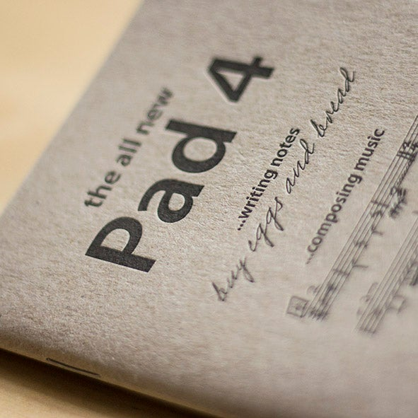 Pad 4 Letterpress Notebook 1