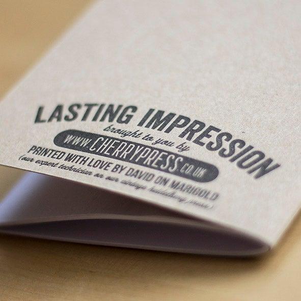 Pad 4 Letterpress Notebook 4