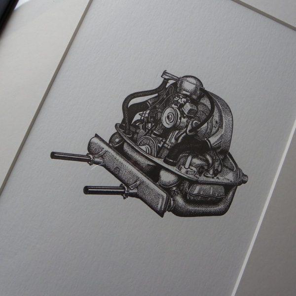 Air Cooled Letterpress Print 2