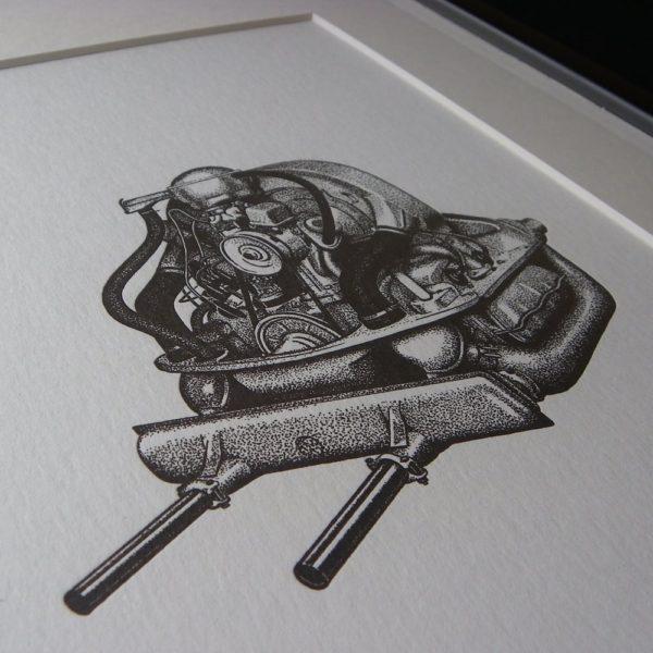 Air Cooled Letterpress Print 1