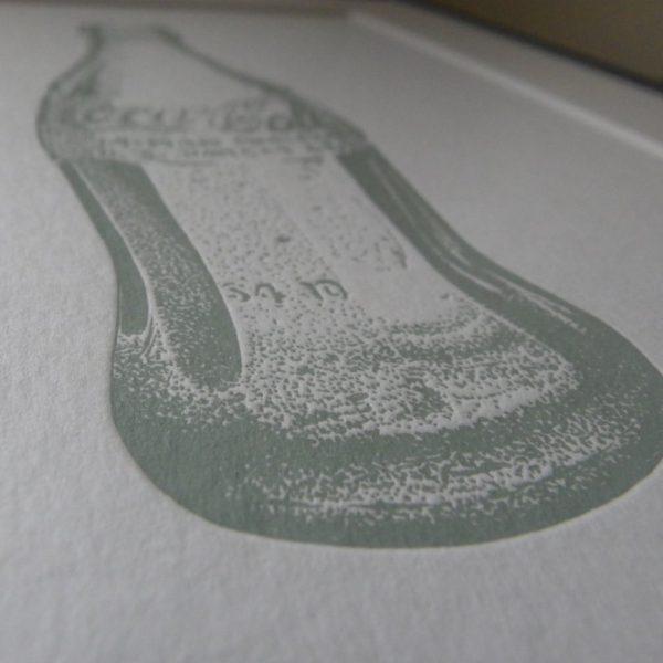 Coke Bottle Letterpress Print 2