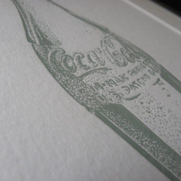Coke Bottle Letterpress Print 1