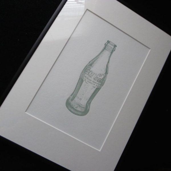 Coke Bottle Letterpress Print 3
