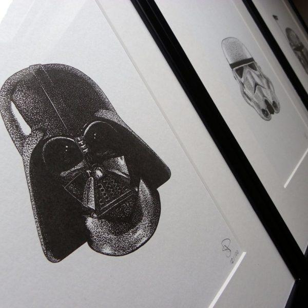 Darth Vader Letterpress Print 2