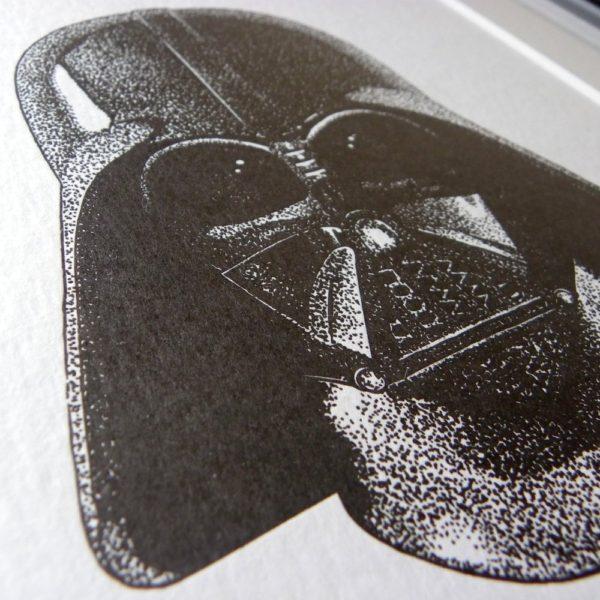 Darth Vader Letterpress Print 1