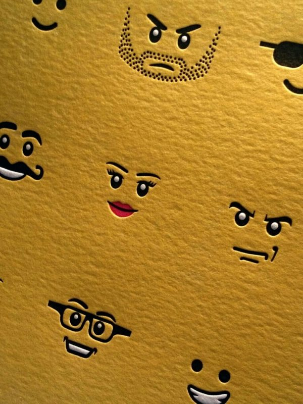 Letterpress Lego Print 1