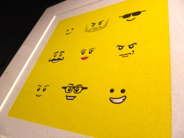 Letterpress Lego Print 2