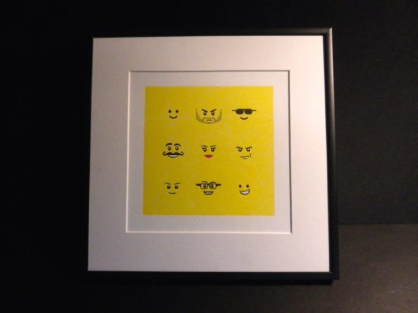 Letterpress Lego Print 3