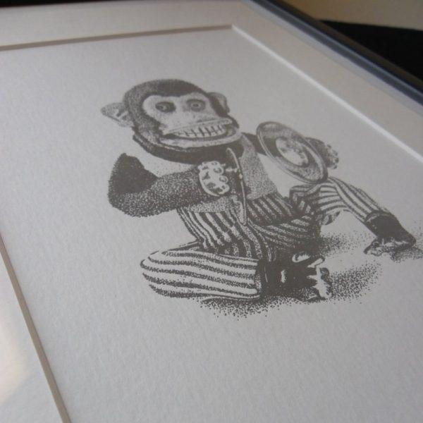 Monkey Madness Letterpress Print 2