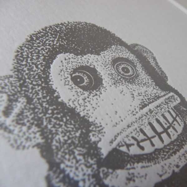 Monkey Madness Letterpress Print 1
