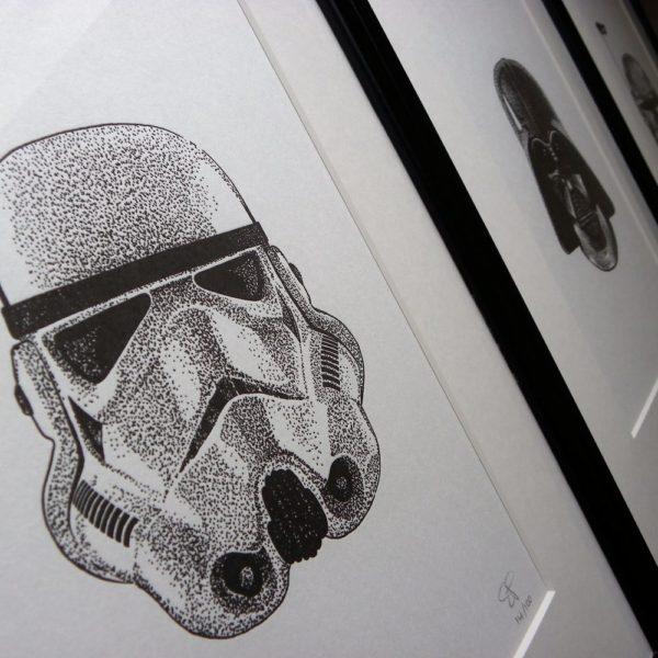 Stormtrooper Letterpress Print 2