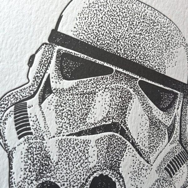 Stormtrooper Letterpress Print 1